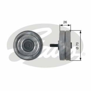 Alternator Belt Idler Guide Pulley  Gates T36466