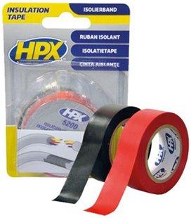 PVC- ELEKTRIKU TEIP 19MM/10M 2 TK MUST+ PUNANE ISOLEER HPX 32-IT1910