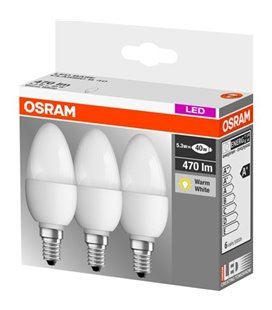 OSRAM MAJAPIDAMISPIRN LED E14 5,3W 470LM 3TK 23-955509