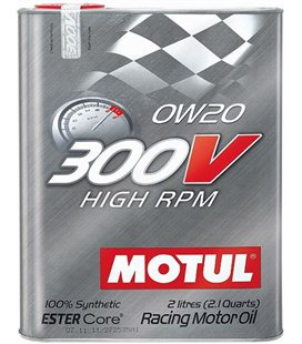 MOTUL 300V engine oils MOTUL 300V HIGH RPM 0W20 2L 104239