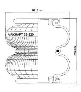 """AIRKRAFT 113001 AIRKRAFT ÕHKPADI 2B-220 KINN M10 ÕHK 1/4"""" KINN.PARALLEELSED 8113001"""