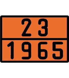 BORG-HICO ADR TUNNUSMÄRK ORANZ PROFIILNUMBRIGA LPG 23-1965 400X300MM 999095560