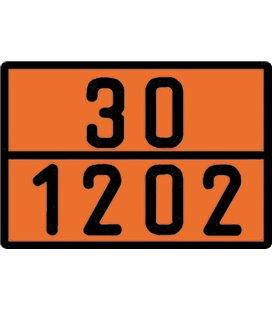 BORG-HICO ADR TUNNUSMÄRK ORANZ PROFIILNUMBRIGA D 30-1202 400X300MM 999095570