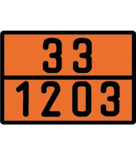 BORG-HICO ADR TUNNUSMÄRK ORANZ PROFIILNUMBRIGA B 33-1203 400X300MM 999095580