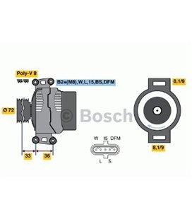 BOSCH GENERAATOR 24V 100A SCA /PRT SRJ / KLN94 2004- BOSCH 999096030