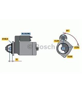 BOSCH MOTOTRUCK STARTER MB ACTROS O580 11HAMMAST 0986018370