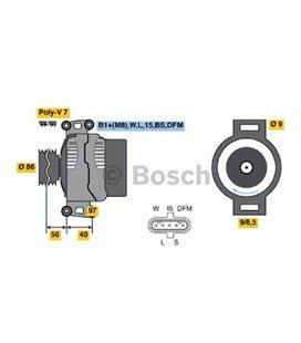 BOSCH GENERAATOR DAF XF105 BOSCH 999184640