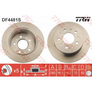 Brake Disc TRW DF4481S