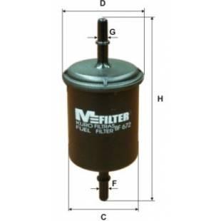 MFILTER Kütusefilter BF672