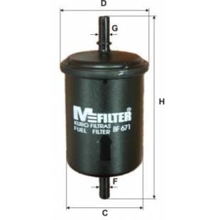 MFILTER Kütusefilter BF671