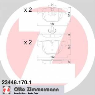Bake Pads ZIMMERMANN 23448.170.1