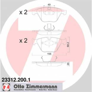 Bake Pads ZIMMERMANN 23312.200.1