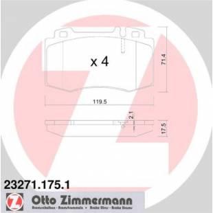 Bake Pads ZIMMERMANN 23271.175.1