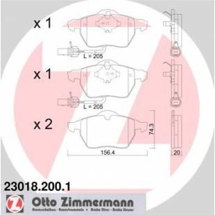 Bake Pads ZIMMERMANN 23018.200.1