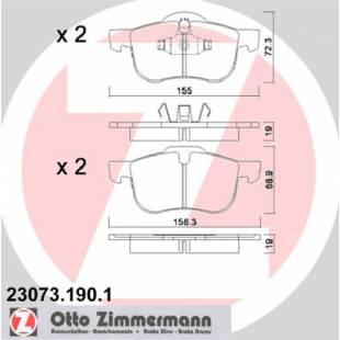 Bake Pads ZIMMERMANN 23073.190.1