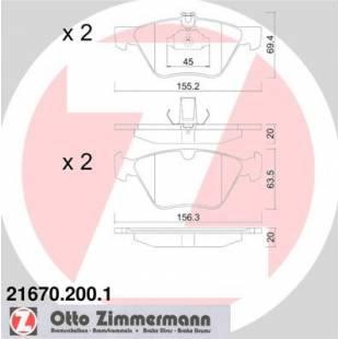 Bake Pads ZIMMERMANN 21670.200.1