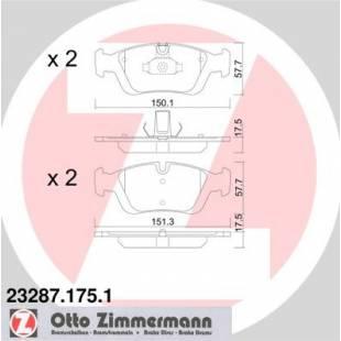 Bake Pads ZIMMERMANN 23287.175.1