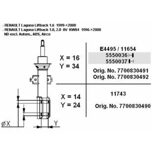 MONROE Shock absorber (Oil) 11654