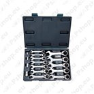 Combination spanner sets with ratchet