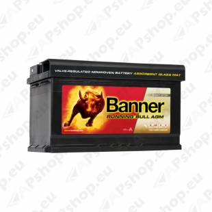 BANNER AKU RUNNING BULL AGM 80AH 315X170X190 - + 800A