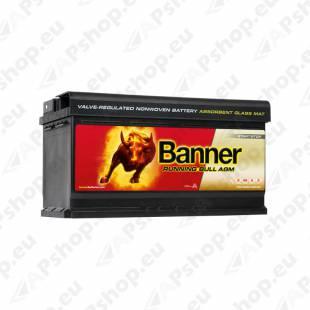 BANNER AKU RUNNING BULL AGM 92AH 354X175X190 - + 850A