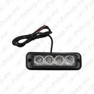 STROBO VILKUR KOLLANE 4-LED 12/24V R65 R10 120X45MM