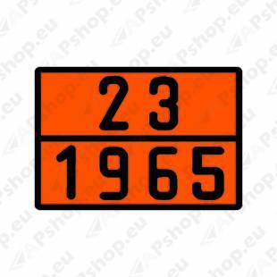 ADR TUNNUSMÄRK ORANZ. PROFIILNUMBRIGA LPG 23-1965 400X300MM