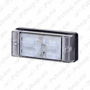 LCD657 TAGURDUSTULI AR/SALONGIVALGUSTI LED 107.6X45.6MM VALGE 12/24V