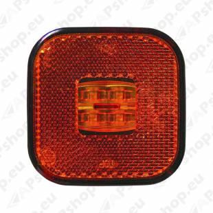 KÜLJETULI LED KOLLANE 62X62MM 12/24V 0.5M JUHTMEGA