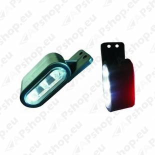 DOB-67L KÜLJETULI VASAK LED. 12/24V. VALGE - PUNANE 40X112X38MM
