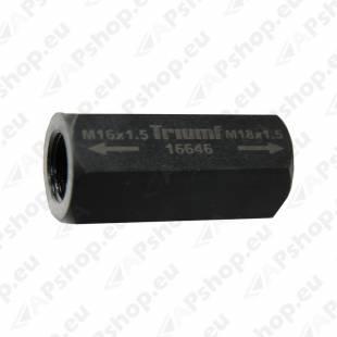 SPINDLI ÜLEMINEK M16X1.5 -M18X1.5 SISE-SISE TRIUMF