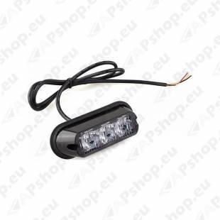 STROBO VILKUR KOLLANE 3-LED 12/24V R65 R10 110X40MM