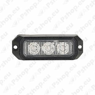 STROBO VILKUR KOLLANE 3-LED 12/24V R10 80X28MM