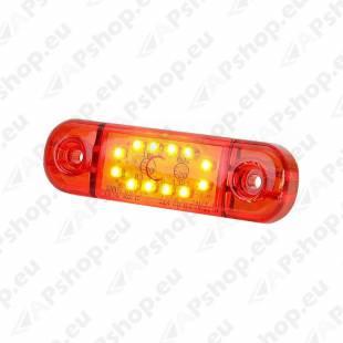 KÜLJETULI LED 12/24V PUNANE 12- LED 84X25X11MM