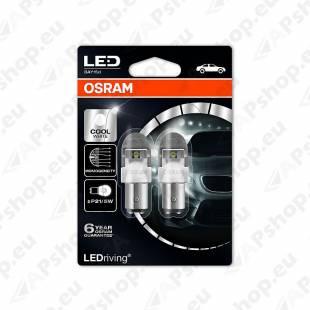 PIRN LED PREMIUM (P21/5W) 2/0.4W 12V BAY15D 6000K BLISTER-2TK OSRAM