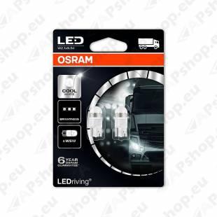 PIRN LED PREMIUM (W5W) 1W 24V W2.1X9.5D 6000K BLISTER-2TK OSRAM
