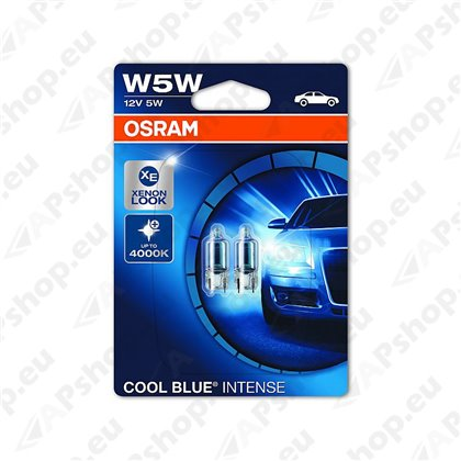PIRN W5W 12V W2.1X9.5D COOL BLUE INTENSE BLISTER-2TK OSRAM