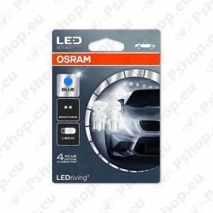 PIRN LED (W5W) 0.5W 12V W2.1X9.5D 6700K BLISTER-2TK OSRAM