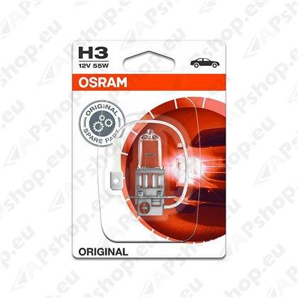 PIRN H3 55W 12V PK22S ORIGINAL BLISTER-1TK OSRAM