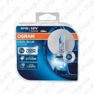 PIRN H15 55/15W 12V PGJ23T-1 COOL BLUE INTENSE HCB-2TK OSRAM