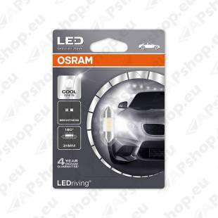 PIRN LED (C5W) 0.5W 12V SV8.5-8 31MM 6000K BLISTER-1TK OSRAM