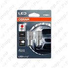 PIRN LED (P21W) 2W 12V BA15S PUNANE BLISTER-2TK OSRAM