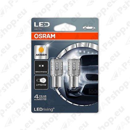 PIRN LED (P21W) 2W 12V BAU15S KOLLANE BLISTER-2TK OSRAM