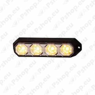 STROBO VILKUR KOLLANE 4-LED 12/24V. 143X38X35MM