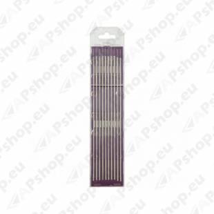 10 ELECTRODES - TUNGSTEN E3 Ø2.4 - PURPLE (AC/DC - ALUMINIUM/STEEL) GYS