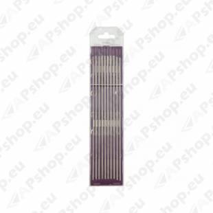 10 ELECTRODES - TUNGSTEN E3 Ø1.6 - PURPLE (AC/DC - ALUMINIUM/STEEL