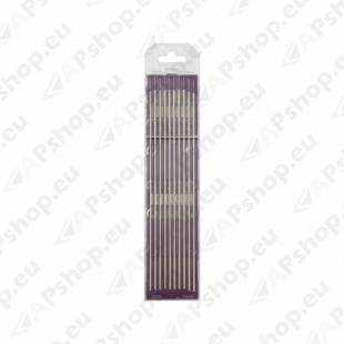 10 ELECTRODES - TUNGSTEN E3 Ø3.2 - PURPLE (AC/DC - ALUMINIUM/STEEL