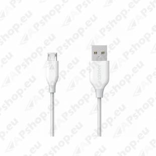 LAADIMISJUHE 0.9M MICRO USB VALGE POWERLINE ANKER