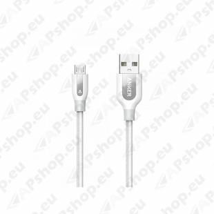 LAADIMISJUHE 0.9M MICRO USB PUNUTUD VALGE POWERLINE+ ANKER
