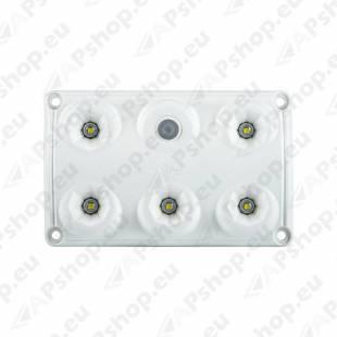 LWD2153 SALONGI SISEVALGUSTI 5-LED LÜLITIGA 75X120X16 12/24V IP65